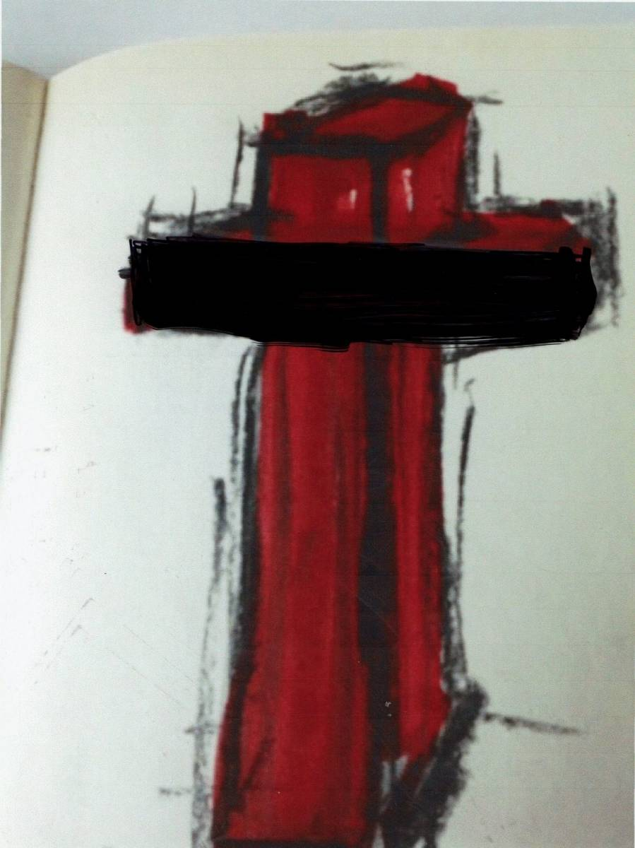 Cross Red Raymond Hirs
