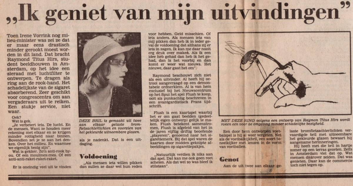 Krant handfilter voor sigaret
